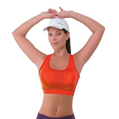 Dames Mouwloos Ademend Sport bh's voor Yoga Pilates Training&Fitness Racen Fietsen / Fietsen Polyester Elastaan Oranje Blauw XL (16) S M L
