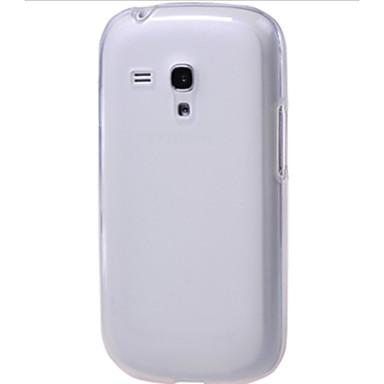 Pouzdro Uyumluluk Samsung Galaxy Samsung Galaxy Kılıf Şeffaf Arka Kapak Solid TPU için S3 Mini