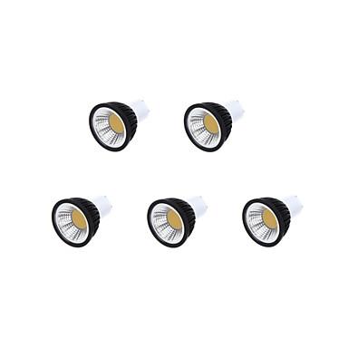 5pcs 350-400lm GU10 LED Σποτάκια MR16 1 LED χάντρες COB Με ροοστάτη Θερμό Λευκό / Ψυχρό Λευκό / Φυσικό Λευκό 85-265V / 220-240V