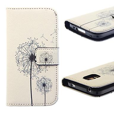 Para Samsung Galaxy Capinhas Porta-Cartão / Com Suporte / Flip / Estampada Capinha Corpo Inteiro Capinha Dente de Leão Couro PU SamsungS5
