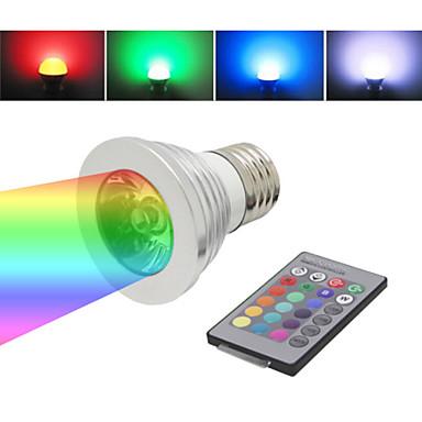E26/E27 LED-spotlampen TL 1 LEDs Geïntegreerde LED Dimbaar Op afstand bedienbaar RGB 120lm RGB full colorK AC 85-265V