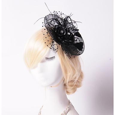 Τούλι / Κρύσταλλο / Στρας Τιάρες / Λουλούδια / Καπέλα 1 Γάμου / Ειδική Περίσταση / Πάρτι / Βράδυ Headpiece / Φτερό / Ύφασμα