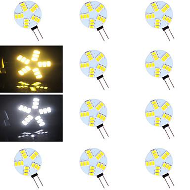 G4 Luminárias de LED  Duplo-Pin 15 leds SMD 5730 Branco Quente Branco Frio 500-800lm 2700-3500/6000-6500K AC 12V