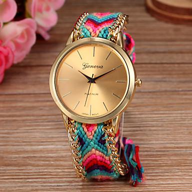 Mulheres Relógio de Pulso corda trançada Tecido Banda Boêmio / Fashion Cores Múltiplas / Um ano / SODA AG4