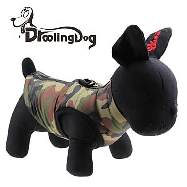 Γάτα / Σκύλος Φανέλα Ρούχα για σκύλους Καρδιά / καμουφλάζ Πράσινο Τερυλίνη Στολές Για κατοικίδια