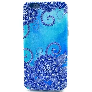 caso macio da tua do teste padrão da glória da manhã azul para iphone 5c casos do iphone