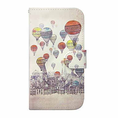 Para Samsung Galaxy S7 Edge Porta-Cartão / Carteira / Com Suporte / Flip Capinha Corpo Inteiro Capinha Balões Couro PU SamsungS7 edge /