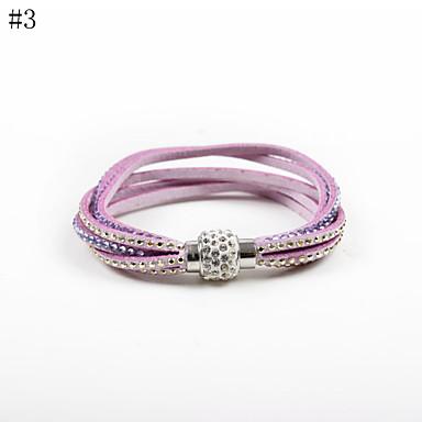 Γυναικεία Βραχιόλια Τένις κοσμήματα πολυτελείας Δερμάτινο Ακρυλικό Βαμβακοφανέλλα απομίμηση διαμαντιών 3 Κιλά 4# 5# 6# 7# Κοσμήματα Για