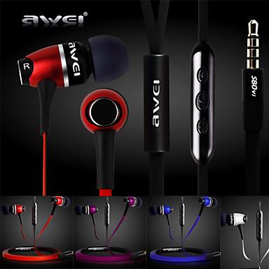 genuína Awei s80vi auscultadores de 3.5mm no canal auditivo super bass com microfone remoto para iphone6 6 mais S6 (cores sortidas)