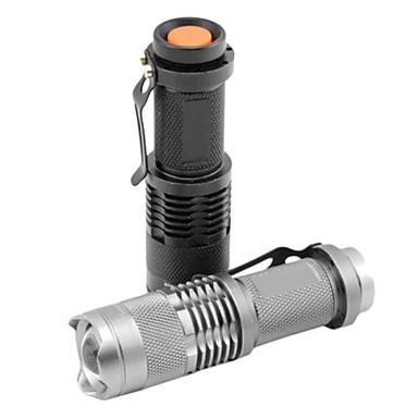 SK68 LED Taschenlampen LED 1200 lm 1 Beleuchtungsmodus Zoomable- / einstellbarer Fokus / Wasserfest Multifunktion Schwarz / Silber / Eisenfarben