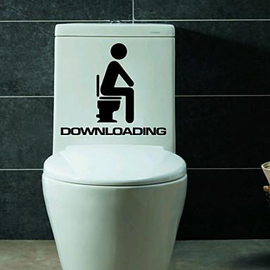1db kreatív személyiség lakberendezési WC matricák