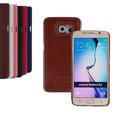 caso de luxo de couro pu 5,1 polegadas tampa traseira para Samsung Galaxy S6