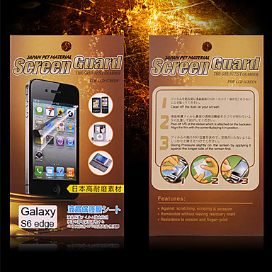 Screenprotector Samsung Galaxy voor S6 edge PET Voorkant screenprotector Mat