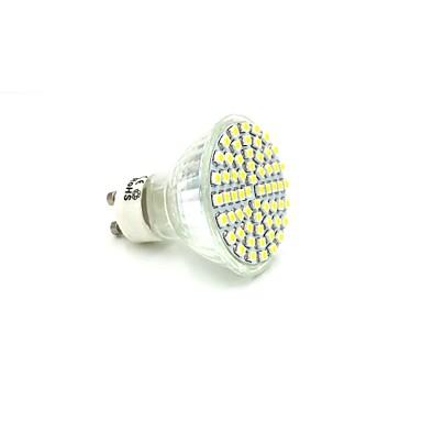 GU10 LED-spotlampen 60 leds SMD 3528 Warm wit 300-320lm 3000-3200K AC 220-240V