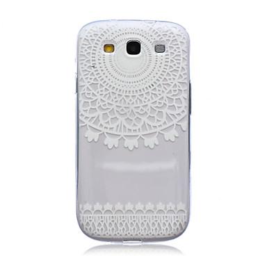Για Samsung Galaxy Θήκη Ημιδιαφανές tok Πίσω Κάλυμμα tok Σχέδιο δαντέλα TPU Samsung S3