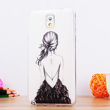 hoesje Voor Samsung Galaxy Samsung Galaxy Note Patroon Achterkant Sexy dame TPU voor Note 3