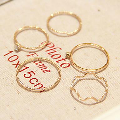 Γυναικεία Προσομειωμένο διαμάντι Κράμα - Εξατομικευόμενο Μοντέρνα Χρυσαφί Δαχτυλίδι Για Καθημερινά Causal