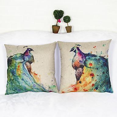 conjunto de 2 capas de almofada de pavão caseiro capa de almofada decoração de casa tampa de almofada