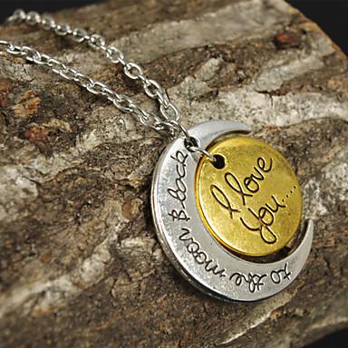 billige Damesmykker-Dame Anheng Halskjede MOON Hjerte damer Kjærlighed Hjerte Legering 2# 3# 4# Halskjeder Smykker Til Takk skal du ha Valentine