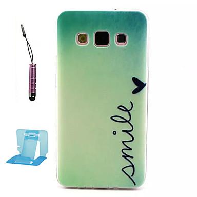 hoesje Voor Samsung Galaxy Samsung Galaxy hoesje Patroon Achterkantje Woord / tekst TPU voor A3