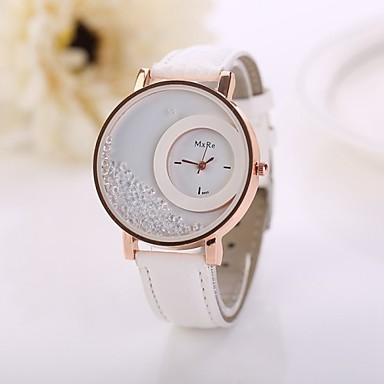 Women's Quartz Imitation Diamond PU Band Analog Flower Fashion White / Red / Pink - Brown Red Blue One Year Battery Life / Jinli 377