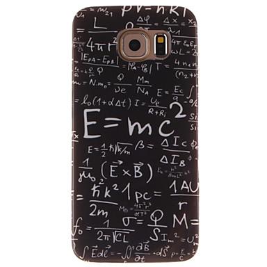 Για Samsung Galaxy Θήκη IMD tok Πίσω Κάλυμμα tok Λέξη / Φράση TPU Samsung S6