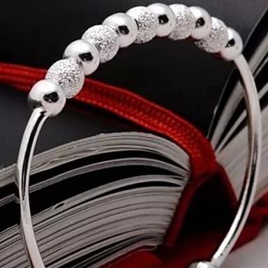 Dames Cuff armbanden Sterling zilver Sieraden Kerstcadeaus Bruiloft Feest Dagelijks Kostuum juwelen Zilver