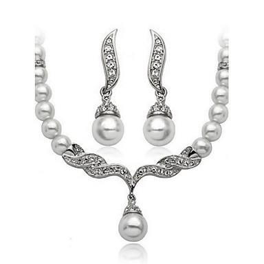 Γυναικεία Μαργαριτάρι / Cubic Zirconia Χαριτωμένο Κοσμήματα Σετ Cercei / Κολιέ - Βίντατζ / Πάρτι / Καθημερινό Χρυσό / Λευκό Σετ Κοσμημάτων
