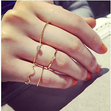 Κρίκοι Καθημερινά / Causal Κοσμήματα Κράμα Δαχτυλίδια για τη Μέση του Δαχτύλου 1set,6 Χρυσαφί