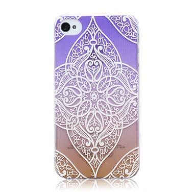 kleurrijke kant bloemen patroon TPU soft terug beschermhoes voor iPhone 4 / 4s