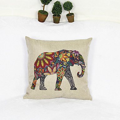 δημιουργικό στυλ ελέφαντα κάλυμμα μαξιλαροθήκη καναπέ διακόσμηση του σπιτιού μαξιλάρι (17 * 17 ίντσες)
