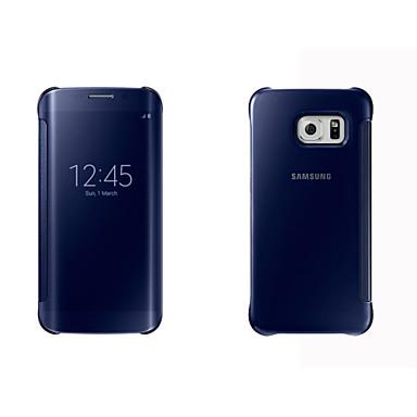 Para Samsung Galaxy Capinhas Case Tampa com Visor Hibernação / Ligar Automático Espelho Flip Corpo Inteiro Capinha Cor Única Rígida PC