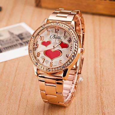 Γυναικεία Μοδάτο Ρολόι Χαλαζίας Hot Πώληση κράμα Μπάντα Heart Shape Ασημί Χρυσό