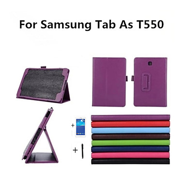 Voor Samsung Galaxy hoesje met standaard / Flip hoesje Volledige behuizing hoesje Effen kleur PU-leer Samsung Tab A 9.7