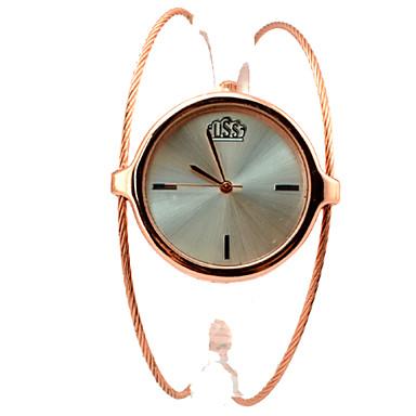 Mulheres Relógio de Moda Relógio de Pulso Bracele Relógio Quartzo Lega Banda Bracelete Elegantes Dourada Dourado Ouro Rose