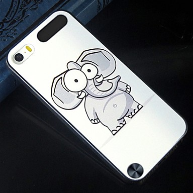 grijs cartoon olifant patroon ontwerp patroon terug te dekken beschermende harde case voor ipod touch 5