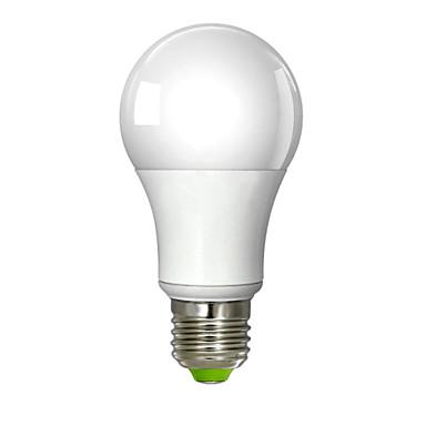 700 lm E26/E27 LED Λάμπες Σφαίρα A60(A19) 1 leds Ενσωματωμένο LED Θερμό Λευκό AC 100-240V