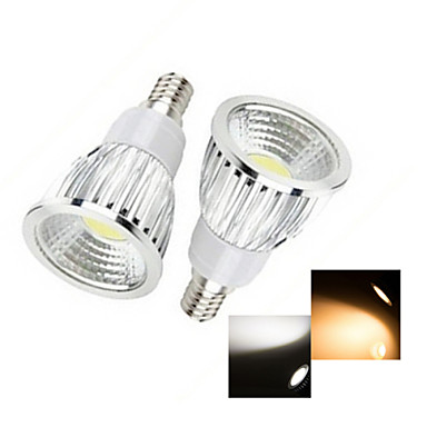 50-150lm E14 Lâmpadas de Foco de LED 1 Contas LED COB Branco Quente / Branco Frio 220-240V / 2 pçs / RoHs / CCC