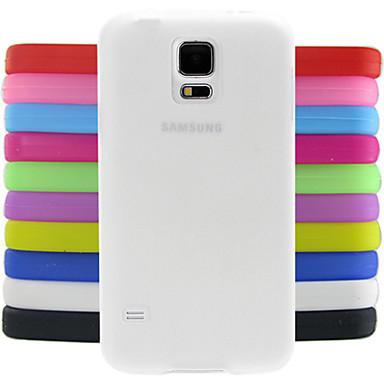 Для Кейс для  Samsung Galaxy Защита от удара Кейс для Задняя крышка Кейс для Один цвет Силикон Samsung S5 Mini