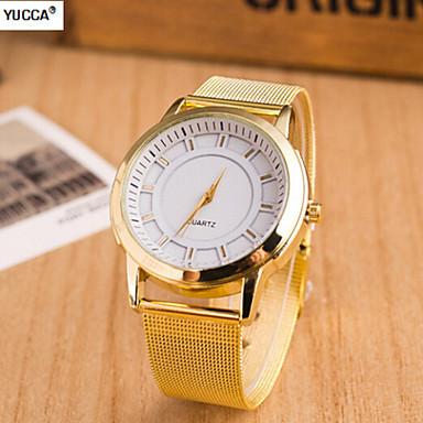 Masculino Relógio Elegante Quartzo suíço Designer Lega Banda Dourada