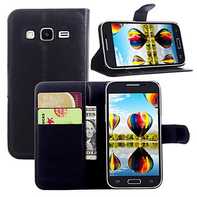 Para Samsung Galaxy Capinhas Porta-Cartão / Carteira / Com Suporte / Flip Capinha Corpo Inteiro Capinha Cor Única Couro PU SamsungCore