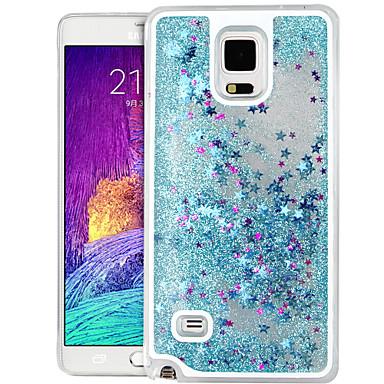 caso duro de alta qualidade de estrela areia movediça brilho pc para Samsung Galaxy Note 4