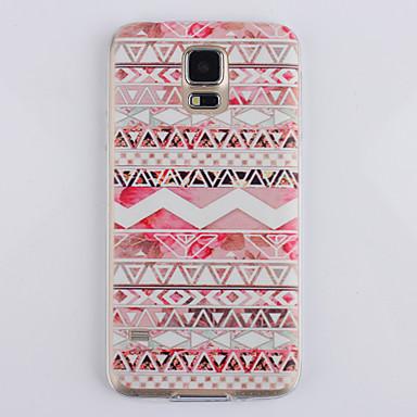 teste padrão popular rosa ultrafino TPU caso capa macia para i9600 Samsung Galaxy S5