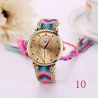 New Fashion Quartz Watch Woven Fabric Gold Chain Bracelet Watch Women Nation Style Women Watches Ladies Wristwatch Cool Watches Unique Watches