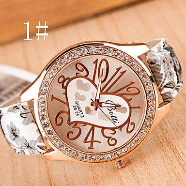 Women S Watches Digital Art Leisure Fashion Watch Pastoral Style Ladies Watch Heart Strap Watch
