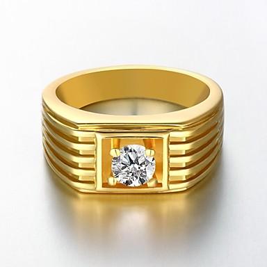 Heren Verguld Bandring - Modieus Goud Ring Voor Bruiloft / Feest / Dagelijks