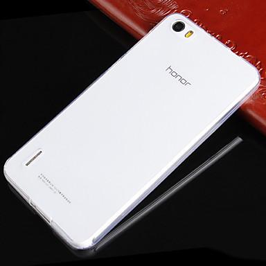 Voor Huawei hoesje Ultradun / Transparant hoesje Achterkantje hoesje Effen kleur Zacht TPU Huawei Huawei Honor 6