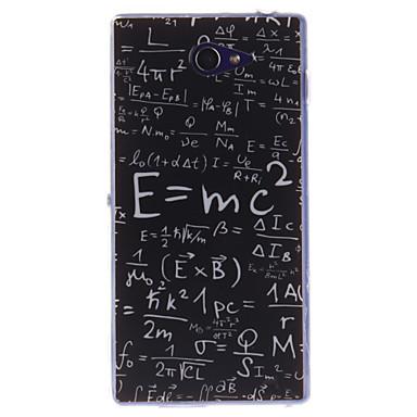 Coco fun® μαθηματικά τύπο μοτίβο μαλακό TPU IMD πίσω κάλυψη περίπτωσης για το Sony Xperia m2 s50h