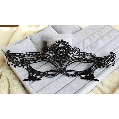 máscara de olhos de renda artesanal sexy para estilo clássico feminino de festa