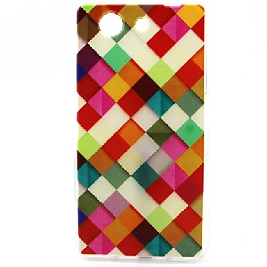 Case For Sony Xperia Z3 Compact Sony Xperia M4 Aqua Sony Sony Case Pattern Back Cover Geometric Pattern Soft TPU for Sony Xperia Z3